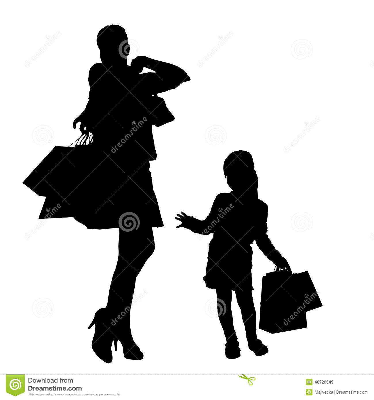 vector silhouette of a family stock vector image 46720349