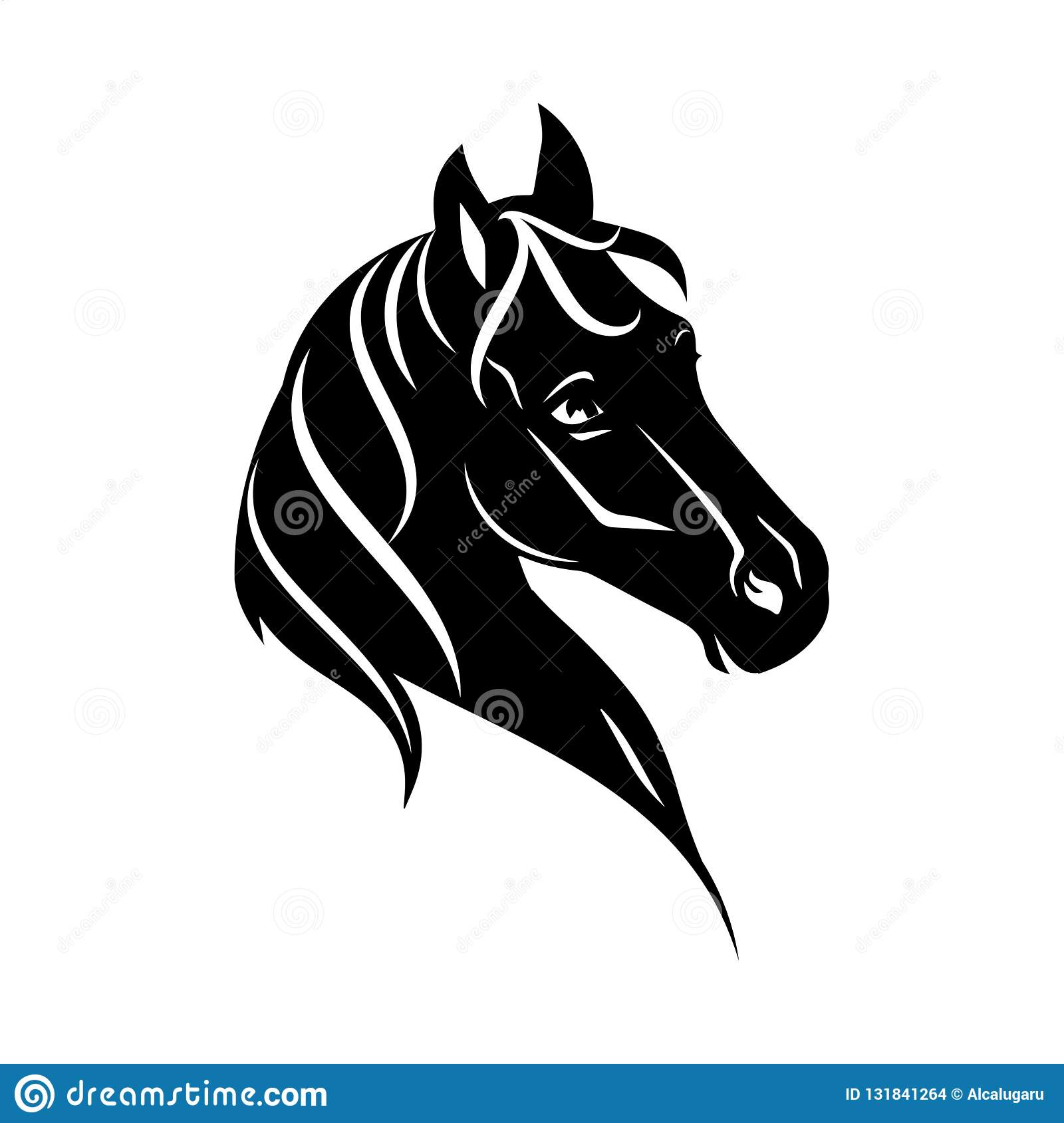 Horse Head Silhouette Stock Illustrations 10 096 Horse Head Silhouette Stock Illustrations Vectors Clipart Dreamstime