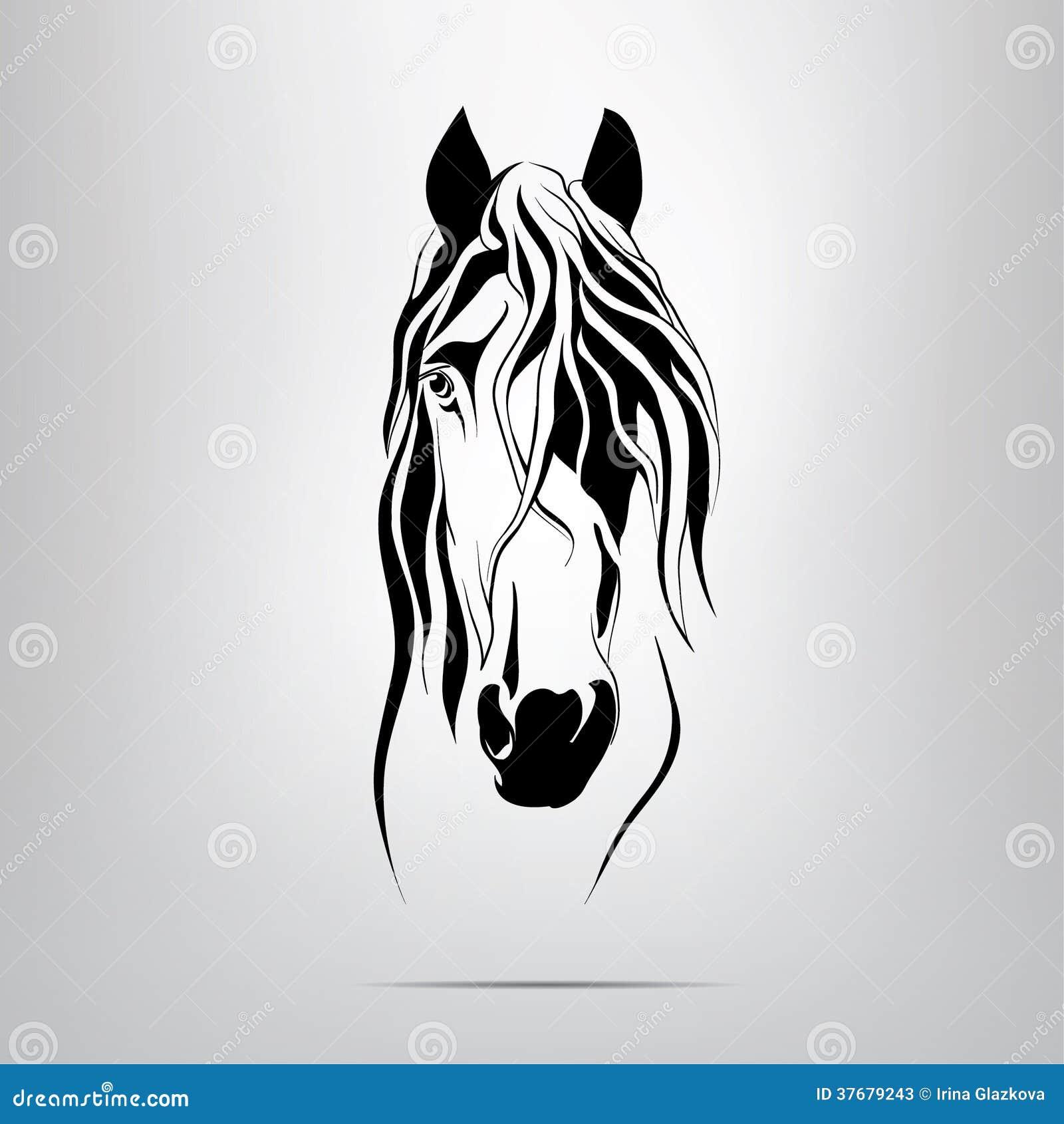 Vector Silhouette Of A Horse's Head Stock Photos - Image: 37679243