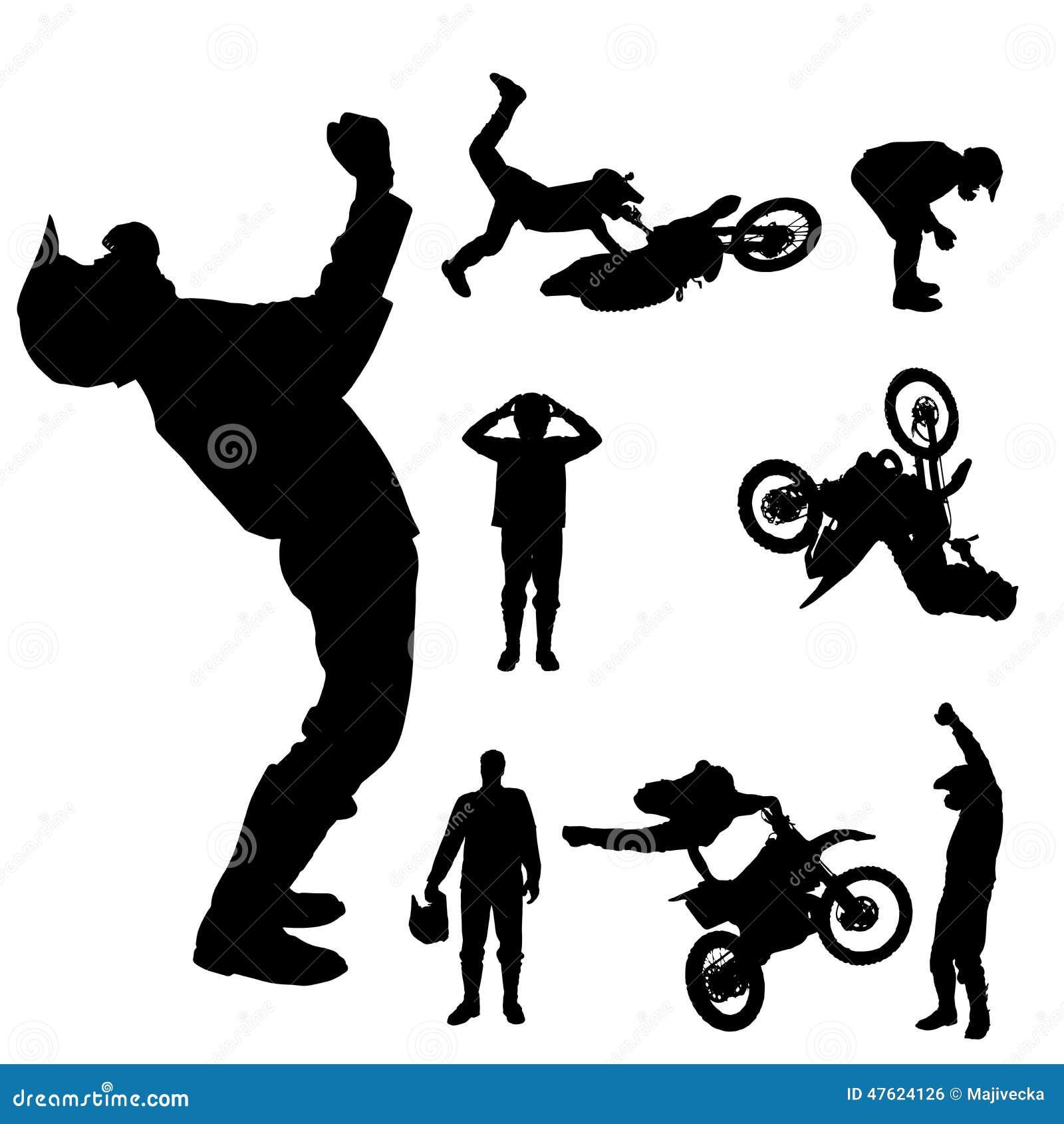 Dirtbike Sport Silhouettes  Download Free Vectors