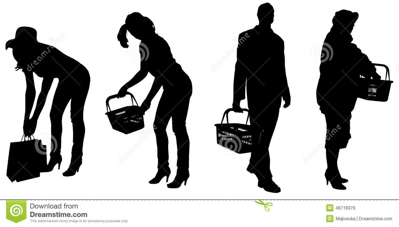 vector silhouette of people - photo #44