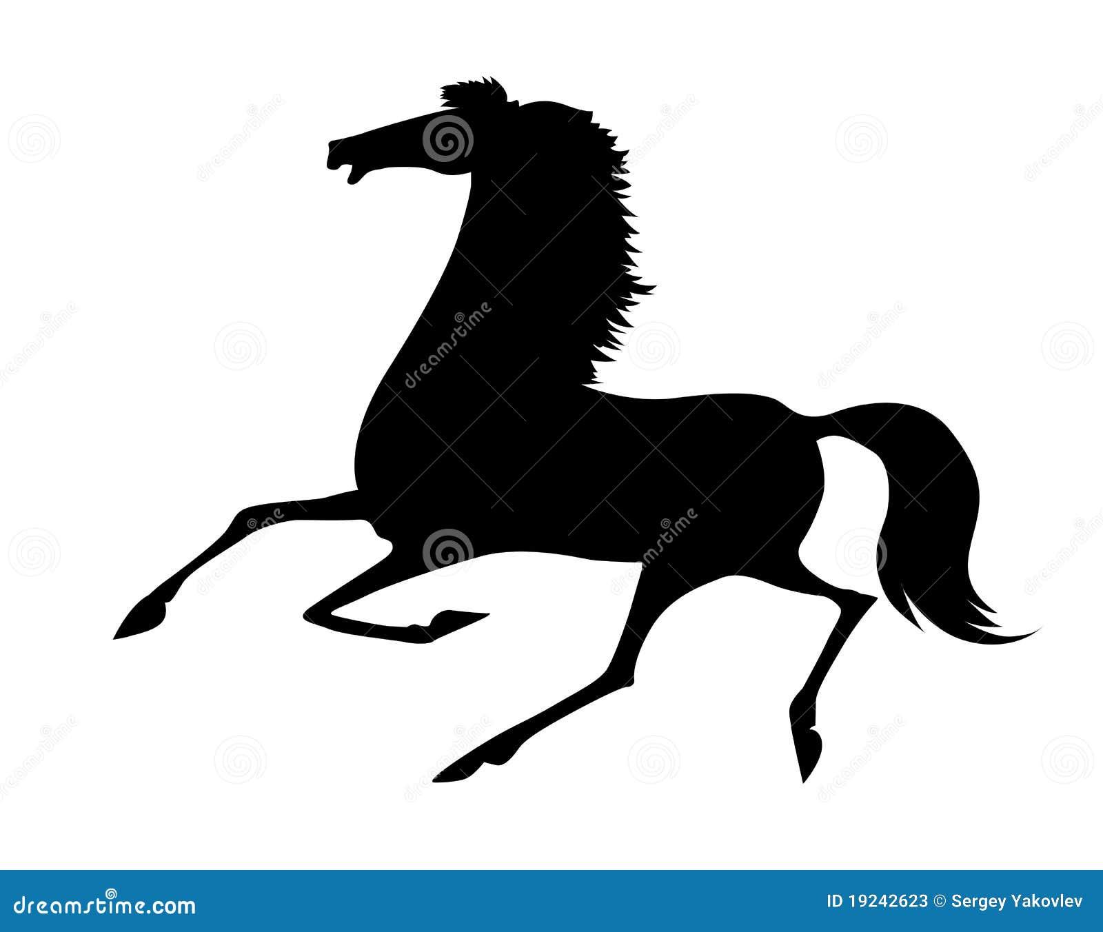 Quarter Horse Running Silhouette Quarter Horse S...