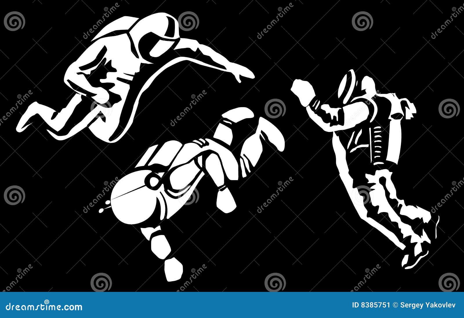 astronaut silhouette vector - photo #31