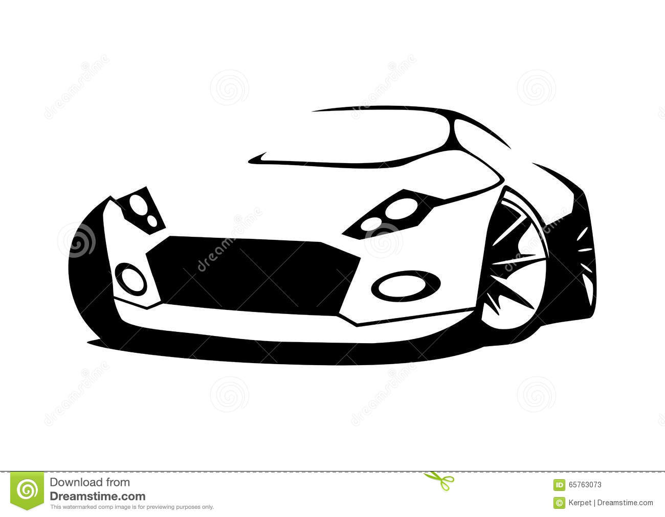 Sports car silhouette vector 3