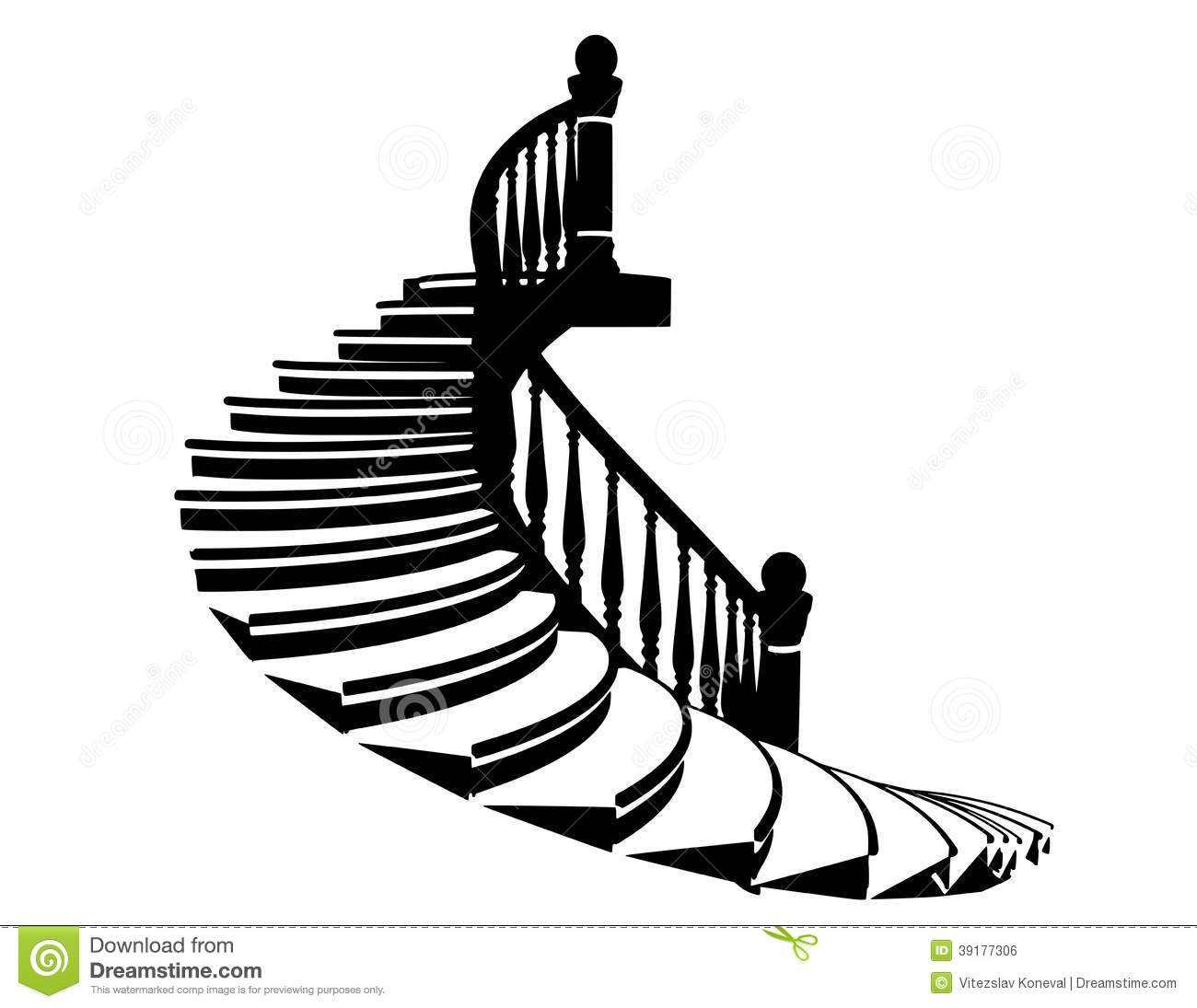 Vector silhouette stairs stock vector illustration of for Free online drawing