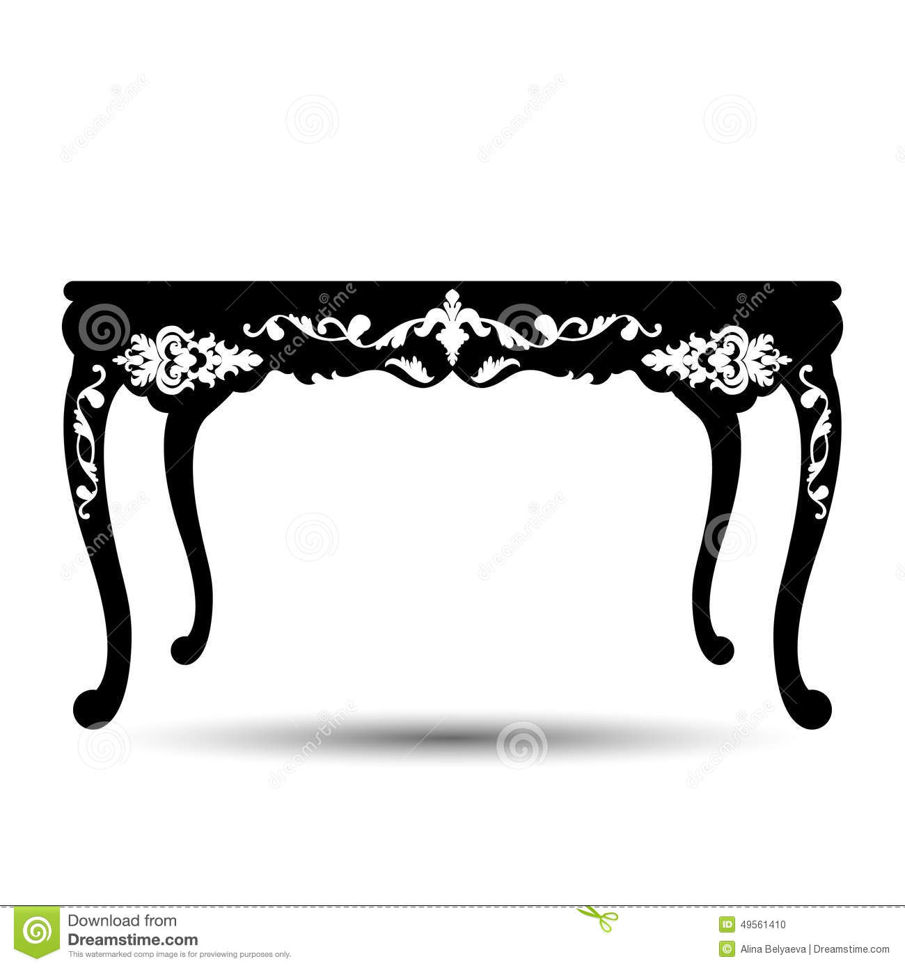 Vector Silhouette Of Table Stock Vector Illustration Of