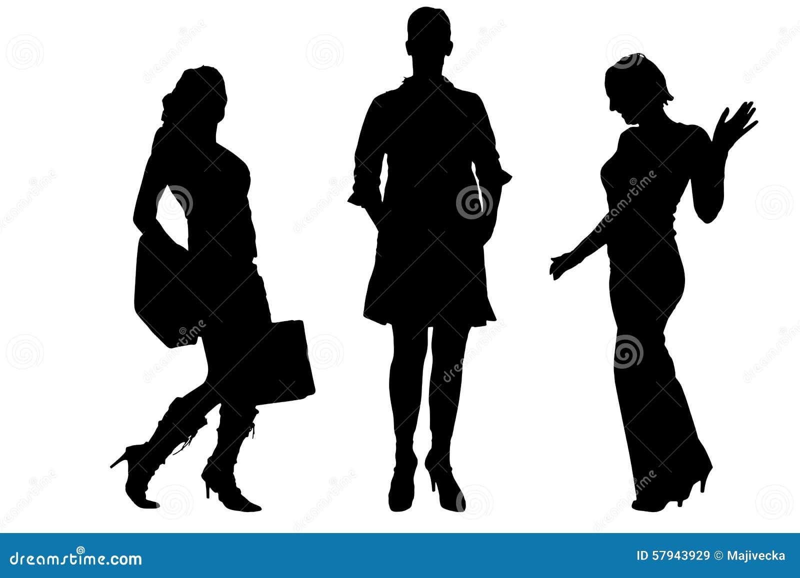 vector silhouette of a women stock illustration illustration of