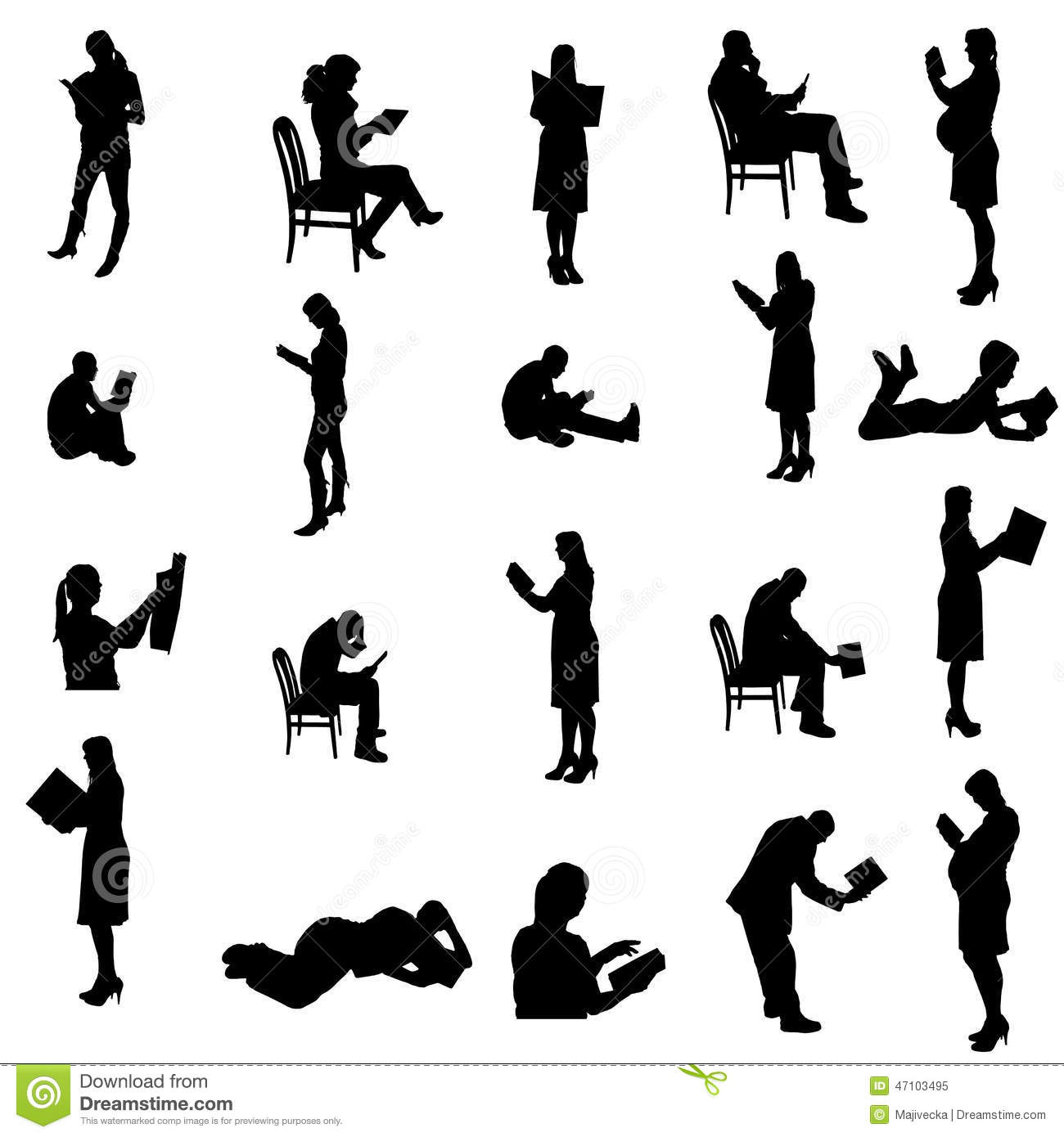 Vector Silhouettes Of People. Stock Vector - Image: 47371705