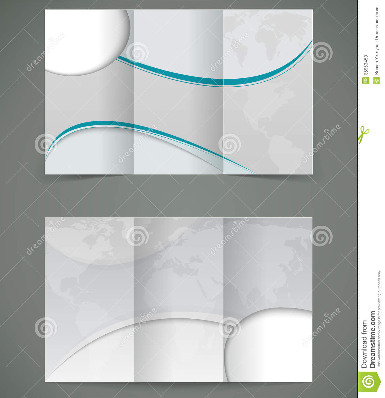 brochure layout design - vector silver brochure layout design business thr stock