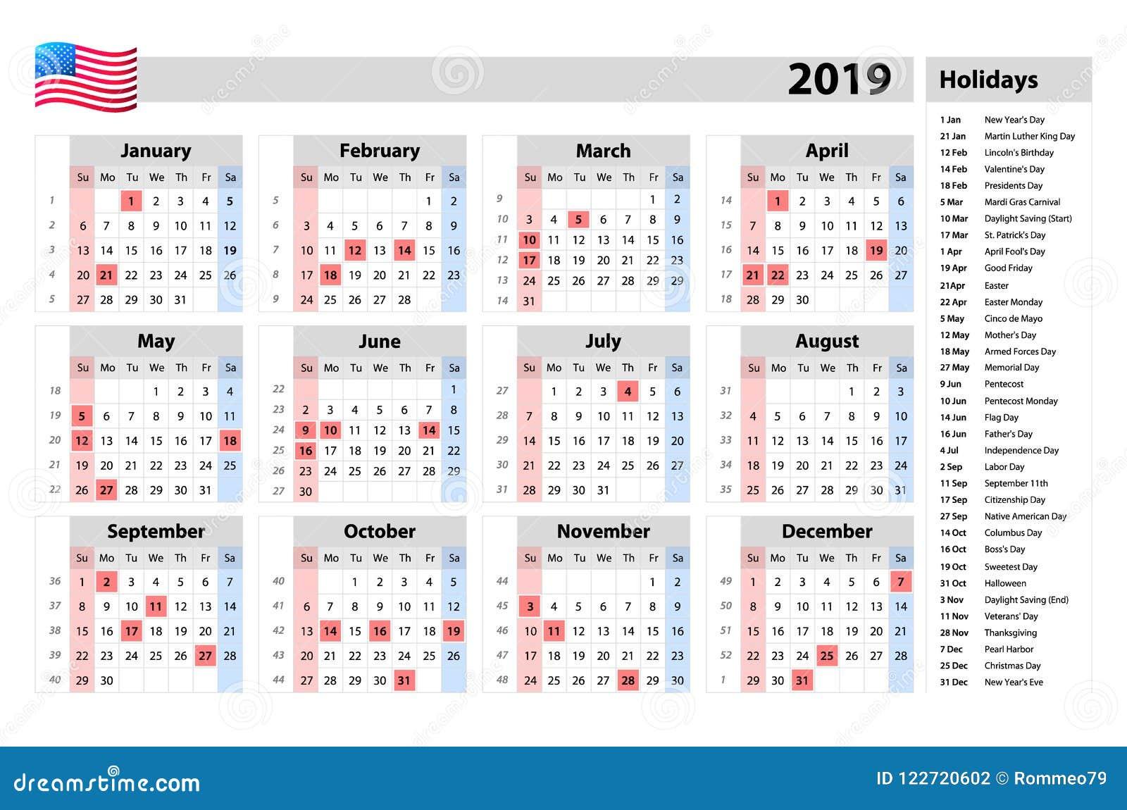 Met Art Calendar : Vector simple calendar one year at a glance