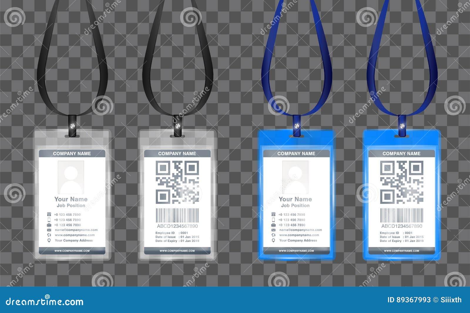 Vector Simple De La Plantilla De La Tarjeta De La Identificación Del ...