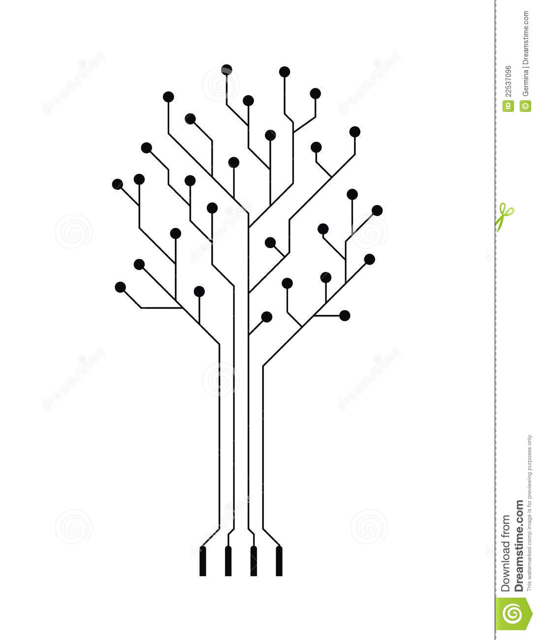Vector Simple Electronic Tree Stock Vector Image 22537096