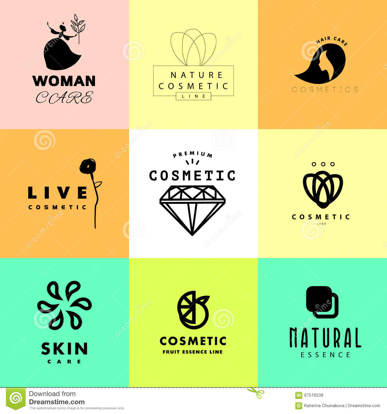 Vector simple flat cosmetic logo template collection stock vector download vector simple flat cosmetic logo template collection stock vector illustration of business accmission Image collections