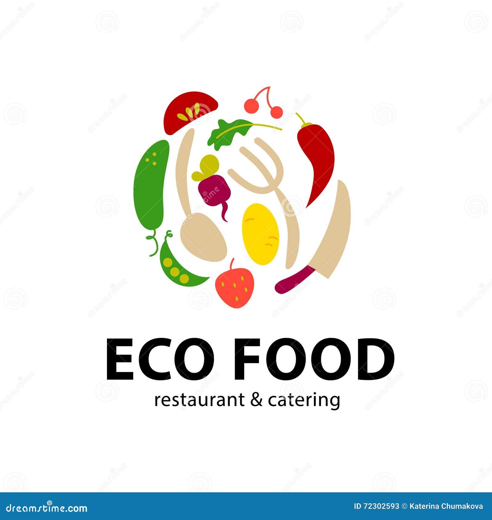 Vector simple flat food logo cartoon vector for Cuisine logo