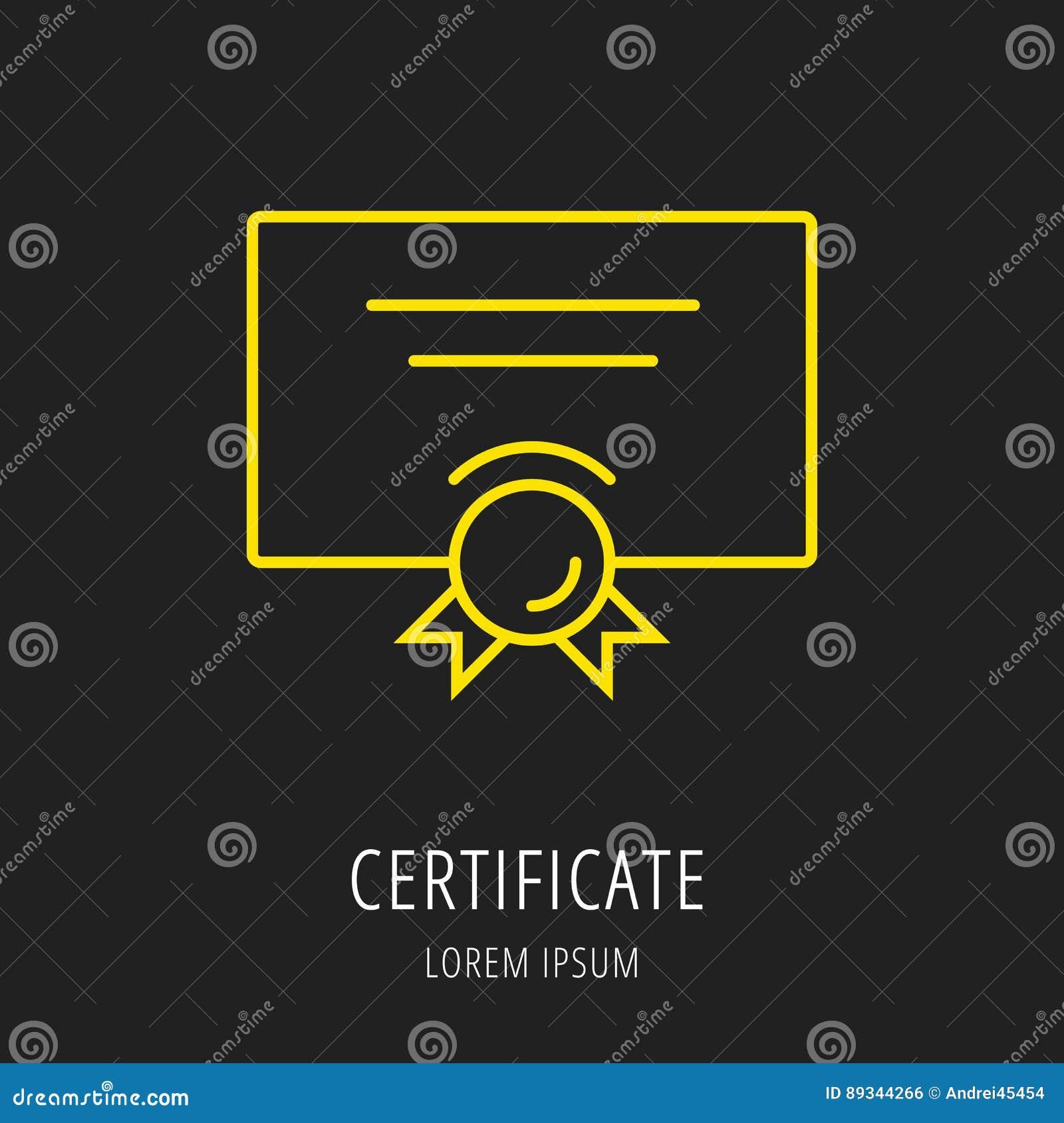 Vector Simple Logo Template Certificate