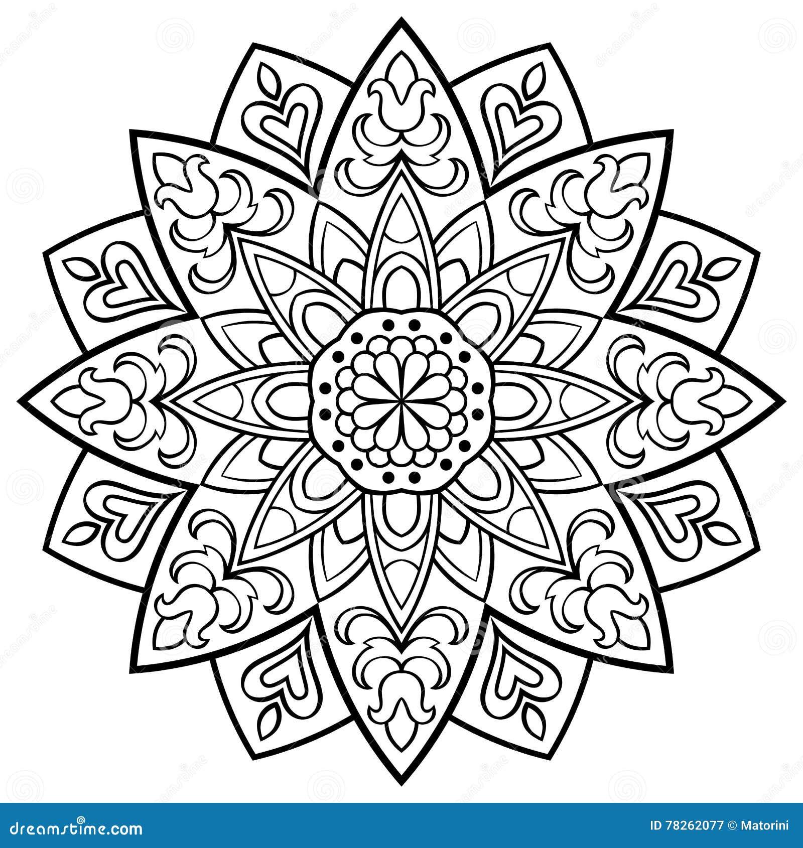 Vector Simple Mandala. Vector Illustration