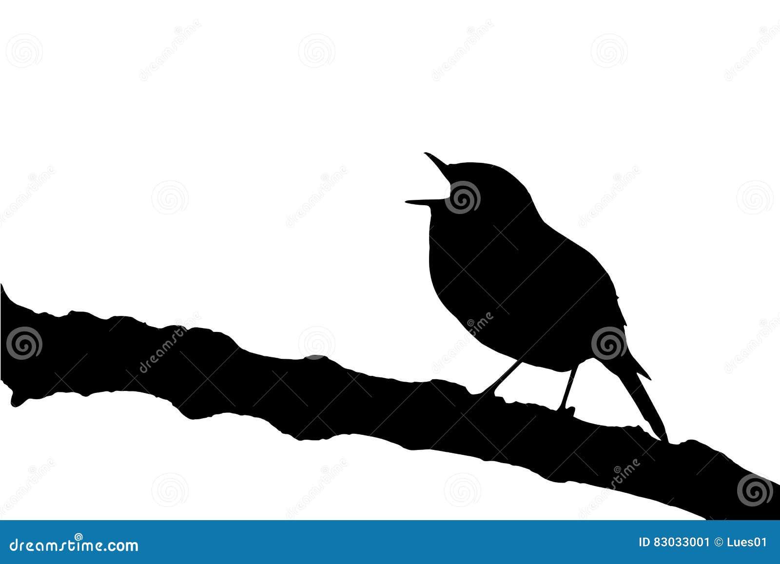 Vector Singing Robin Redbreast Stock Vector - Illustration ...