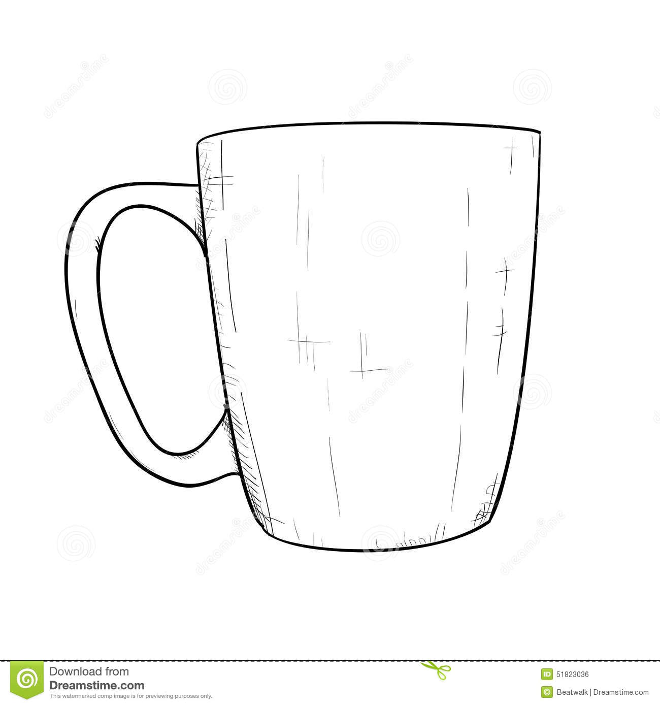 Vector sketch of cup stock vector. Illustration of ancient - 51823036