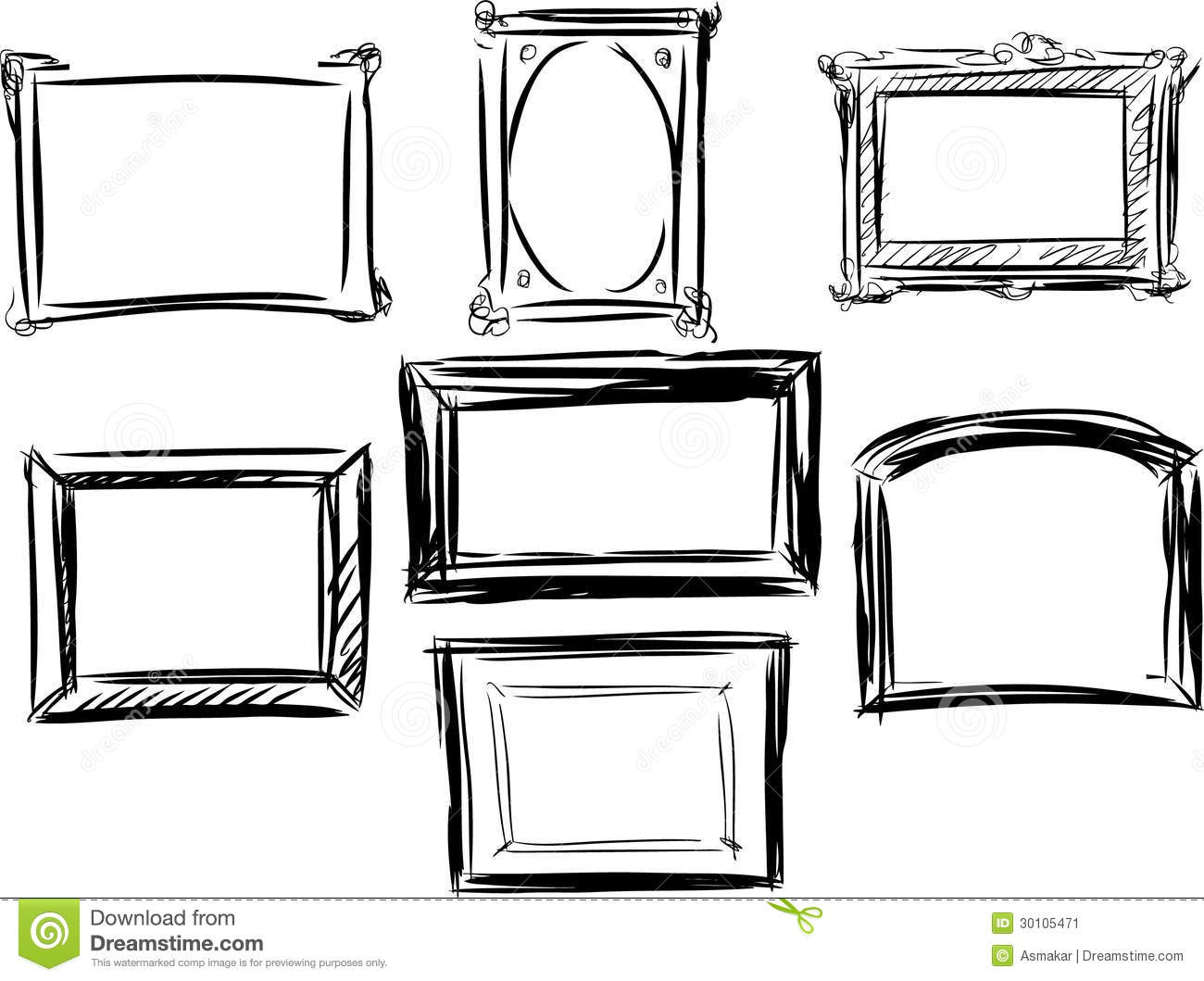 Frames stock image. Image of doodle, holiday, drawing ...