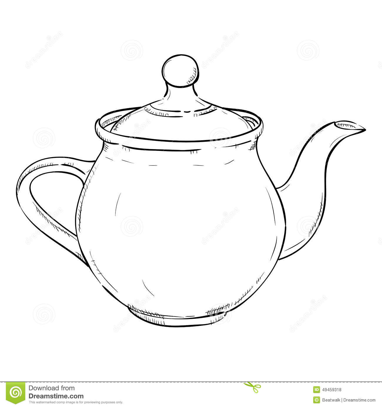 Vector Sketch Of Doodle Kettle Stock Vector Image 49459318