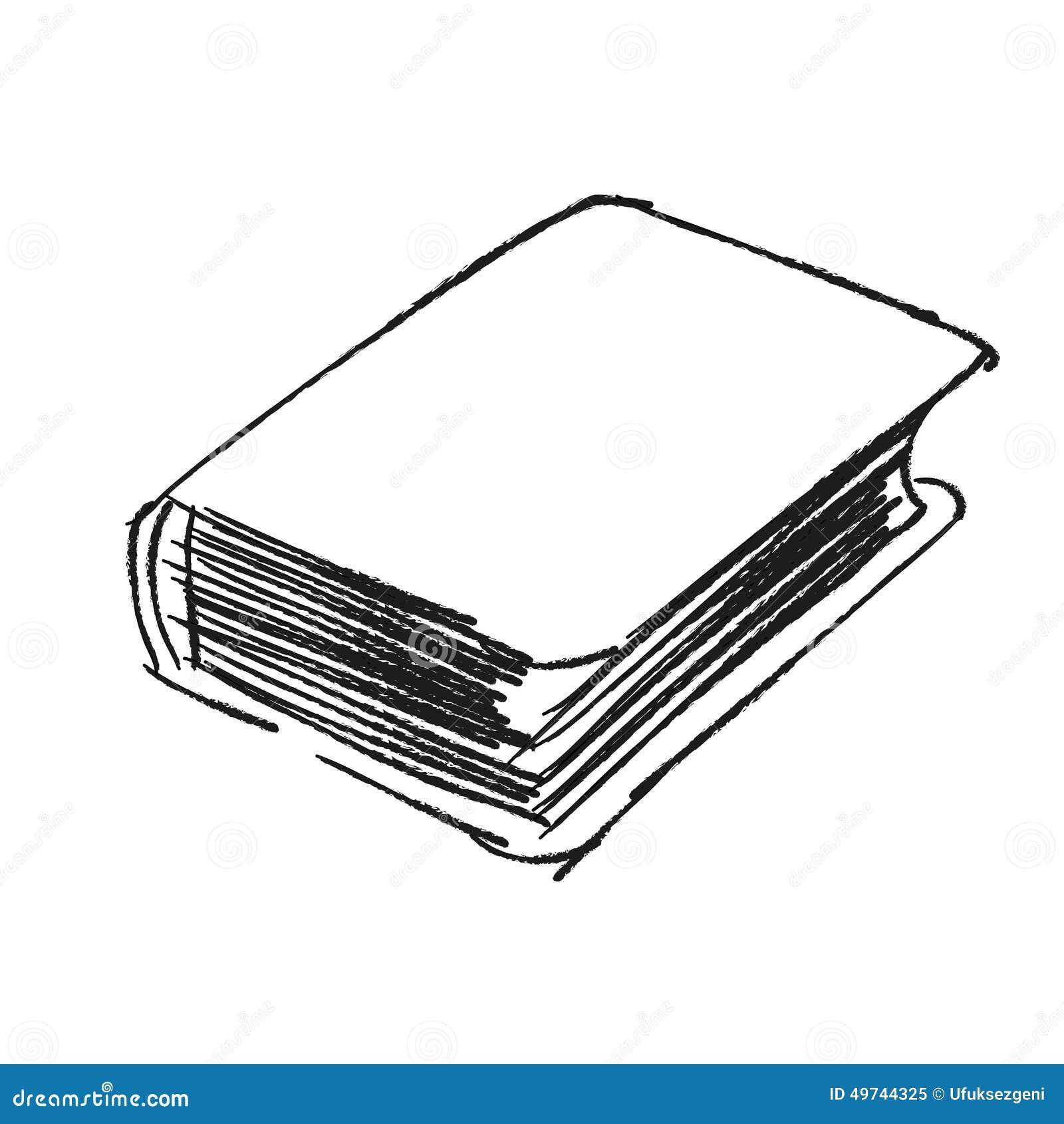 Vector Sketch Drawing Book Illustration Stock Vector