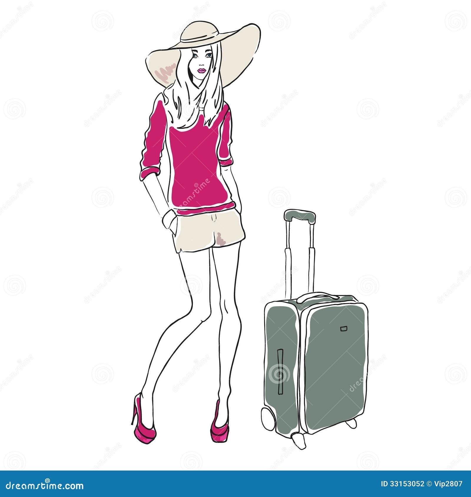 Vector Sketch Fashion Woman Stock Vector - Image: 33153052