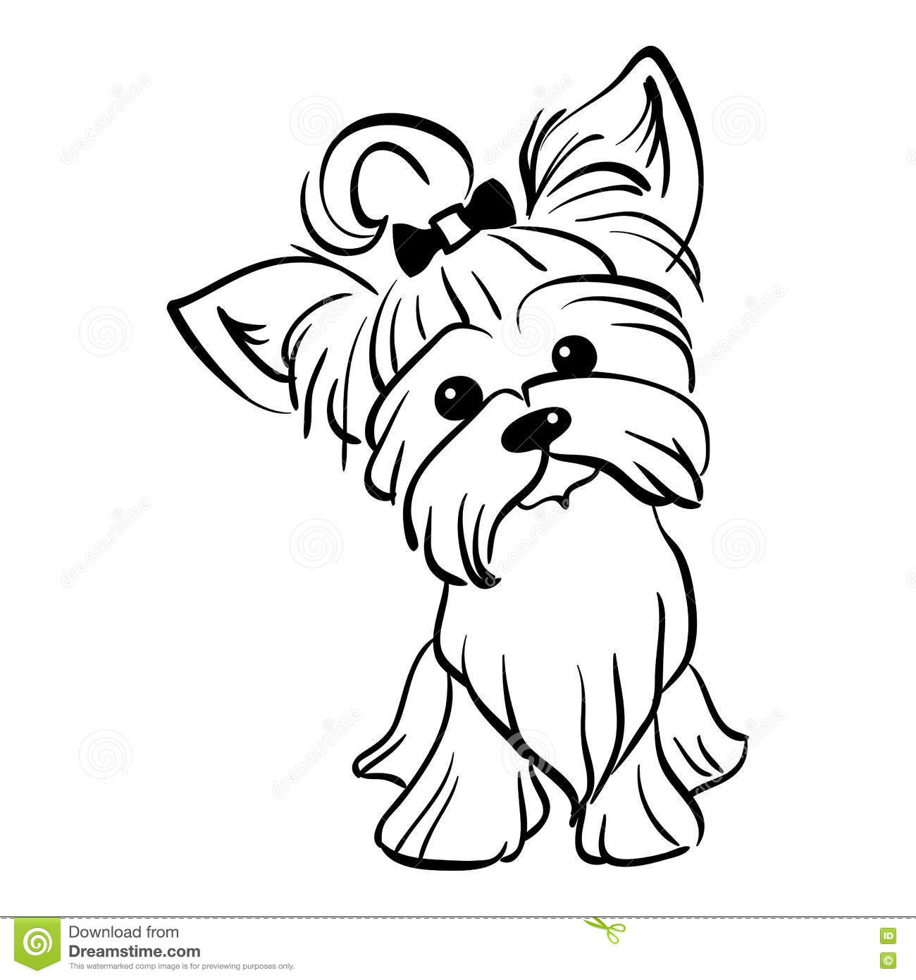 Pin Yorkshire Terrier Coloring Pages On Pinterest Yorkie Coloring Page
