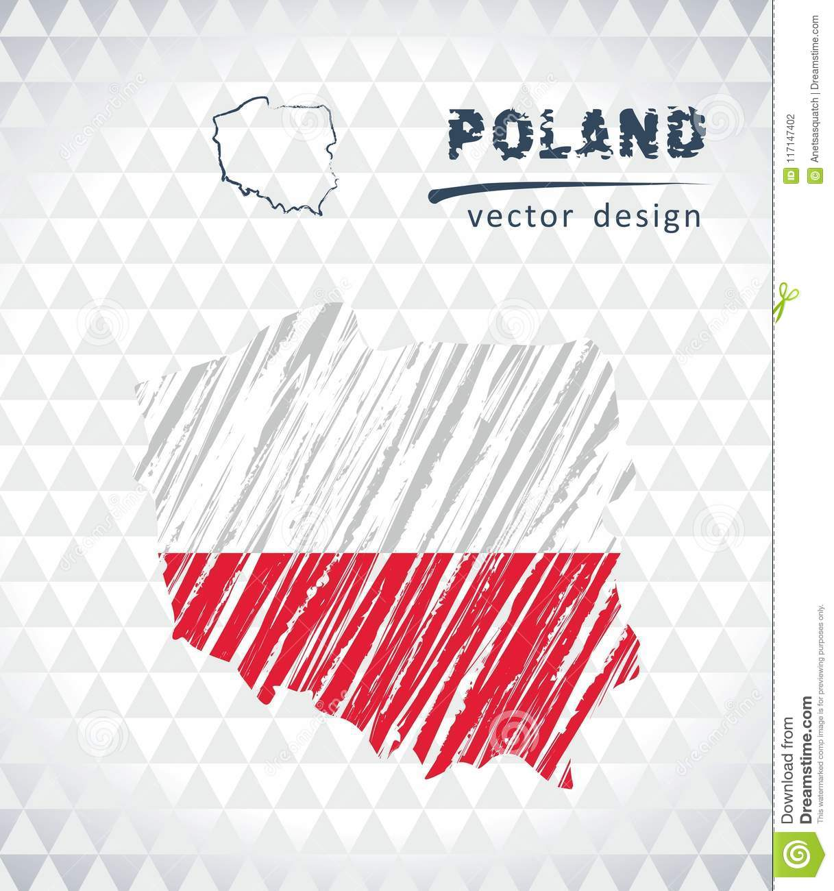 Poland Vector Map With Flag Inside Isolated On A White Background ...