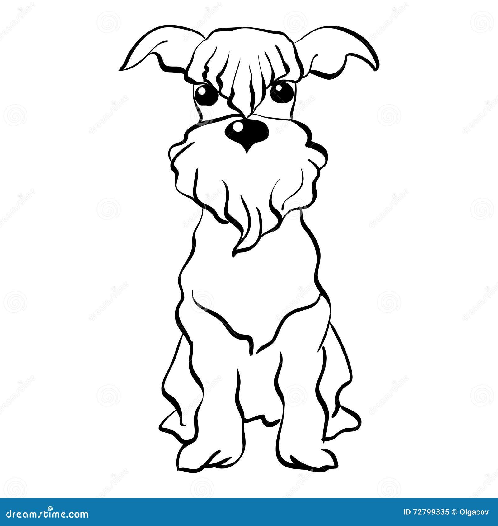 Vector Miniature Schnauzer Dog Cartoon Vector ...