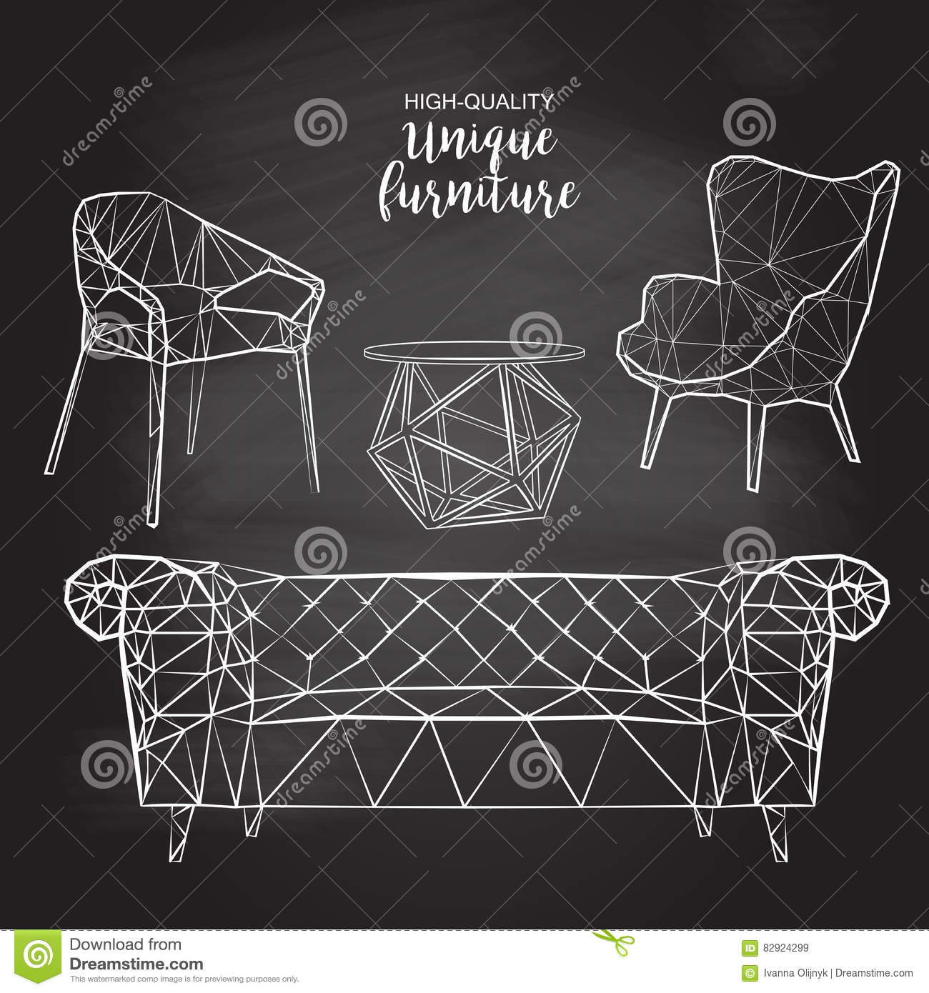 Vector sketch polygonal chairs sofa coffee table stock image vector sketch polygonal chairs sofa coffee table geotapseo Gallery