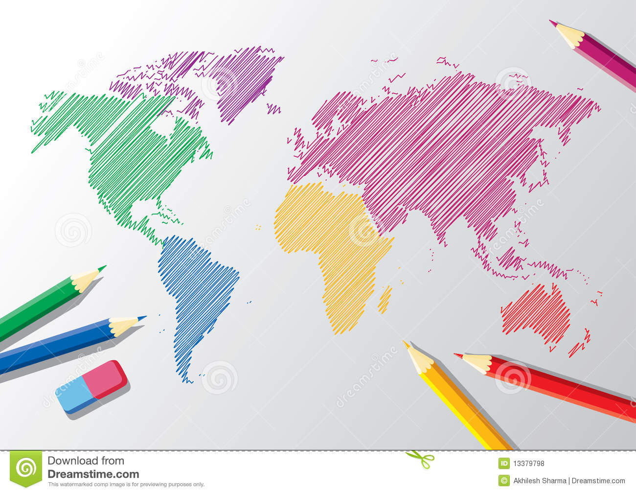 Vector sketch of a world map stock vector illustration of vector sketch of a world map royalty free stock photo gumiabroncs Images