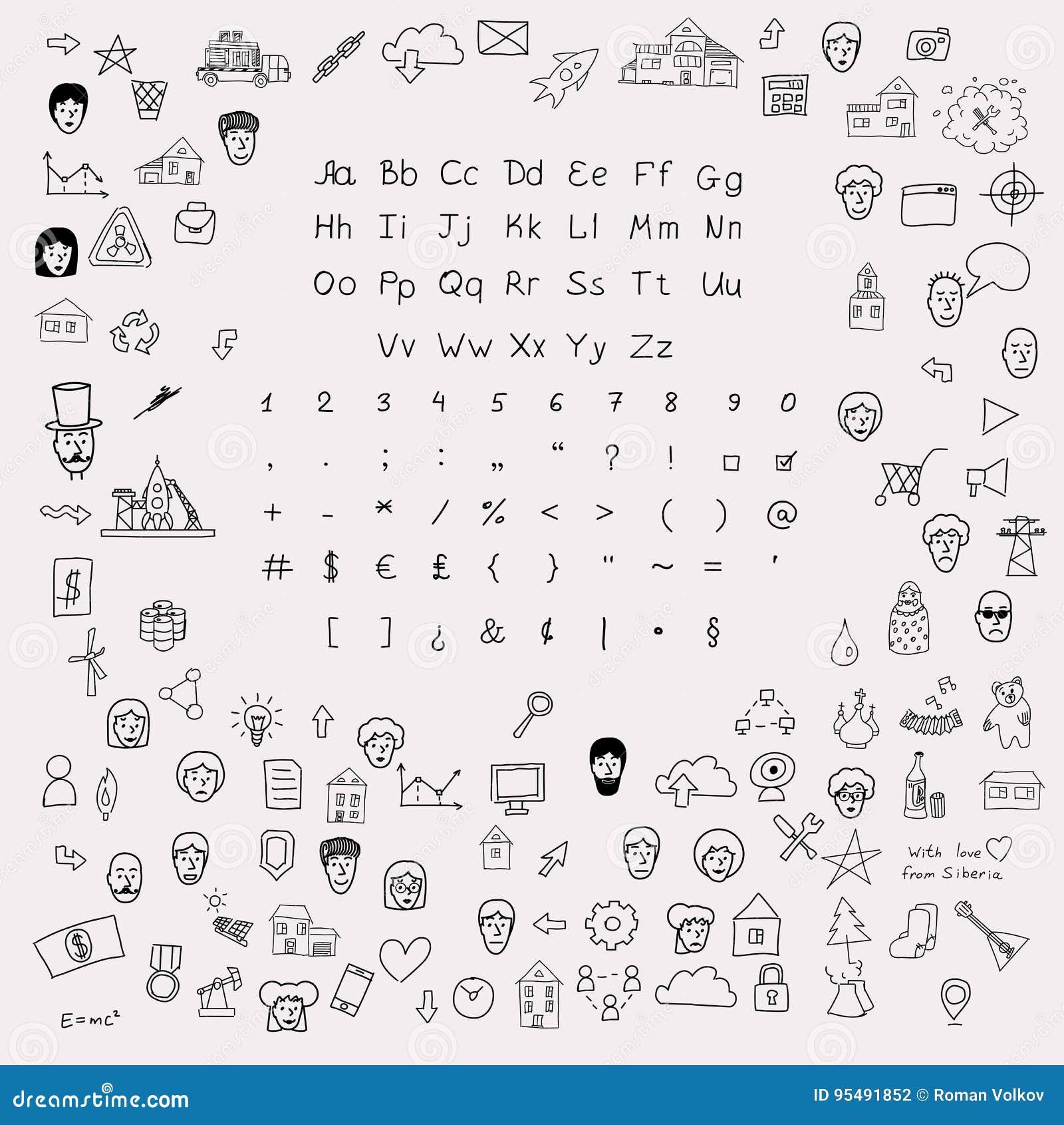 Vector Sketchnote Design Kit Stock Vector Illustration Of Avatar