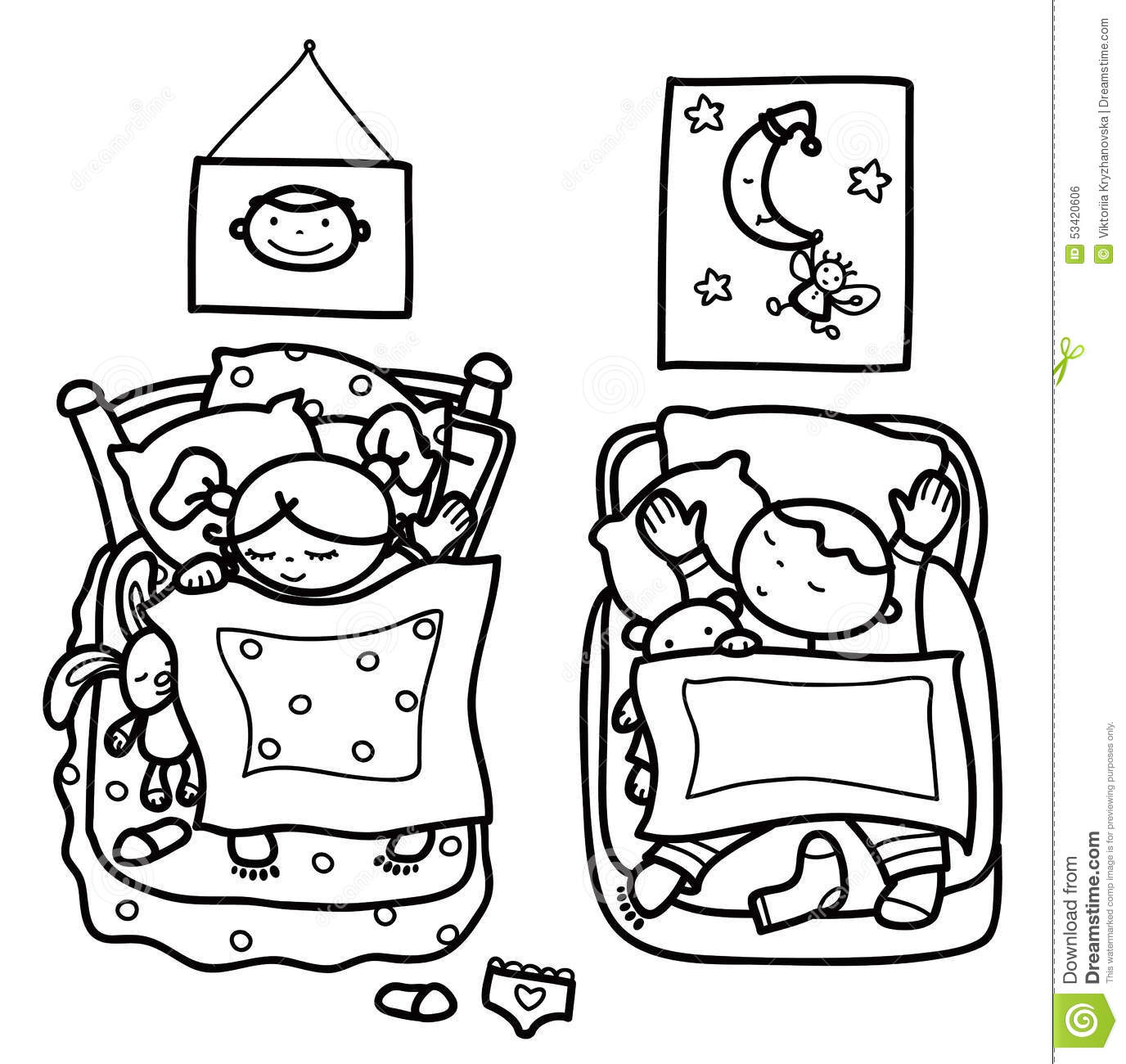 Sleeping Moon Clipart Black And White