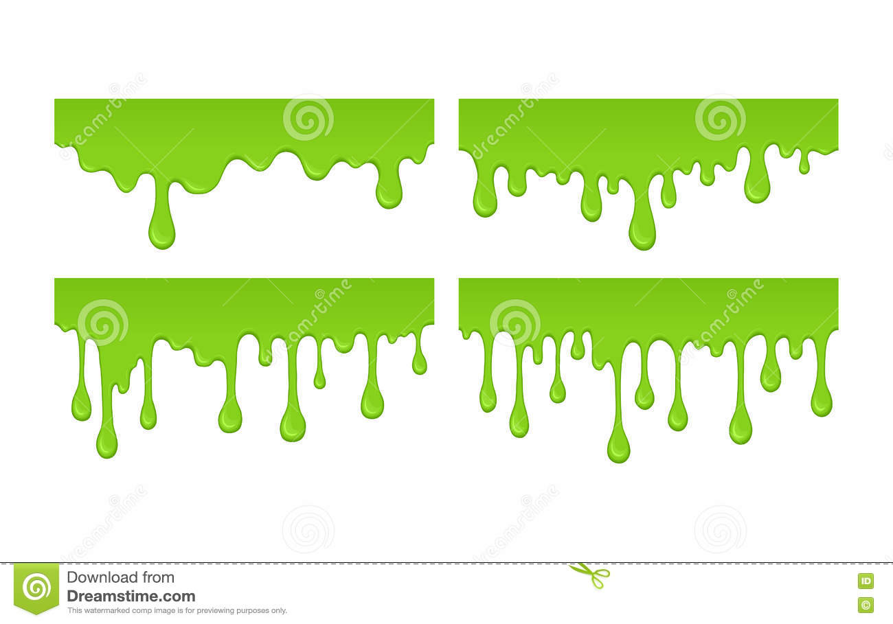 Vector slime drops and blots.