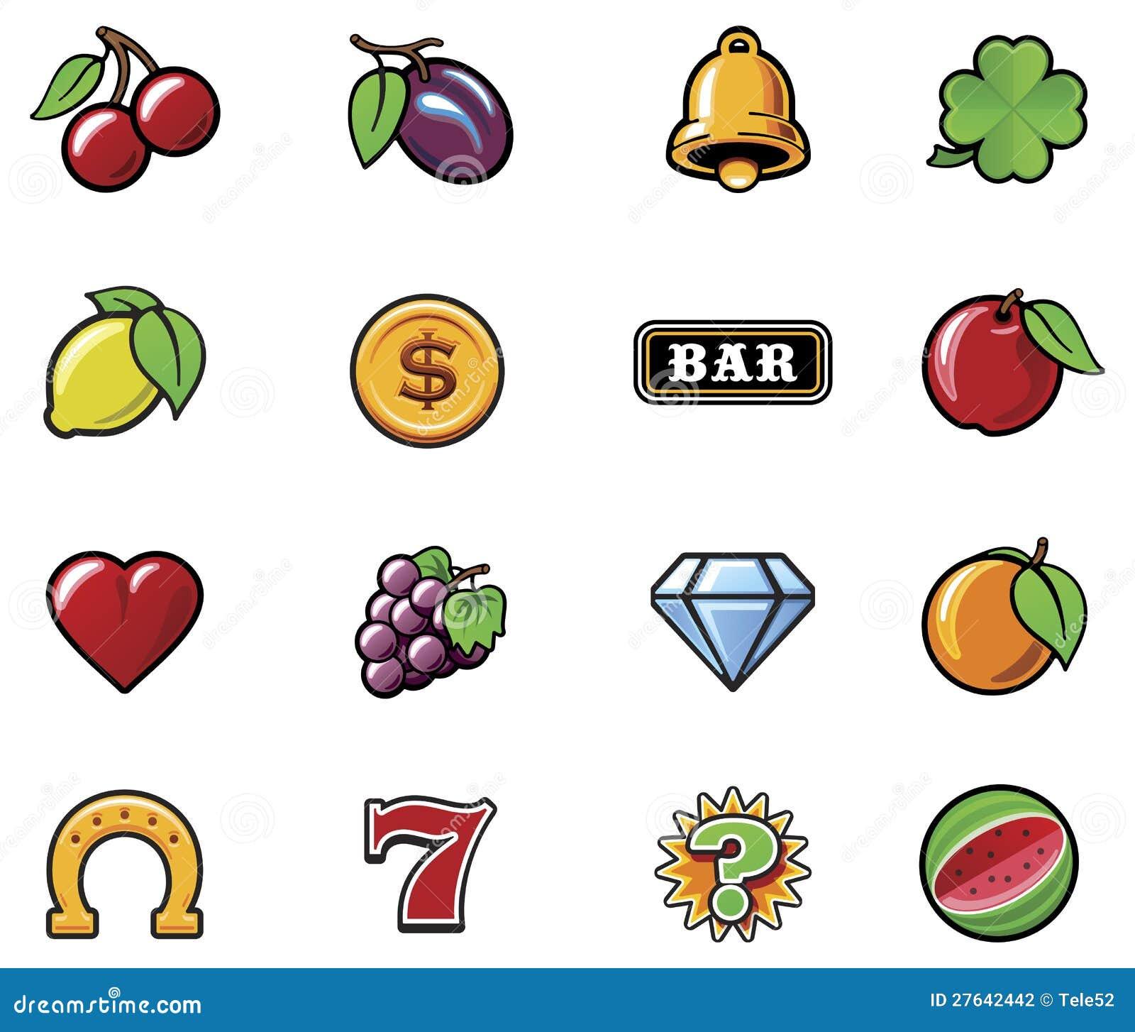 slot machine symbols vector free