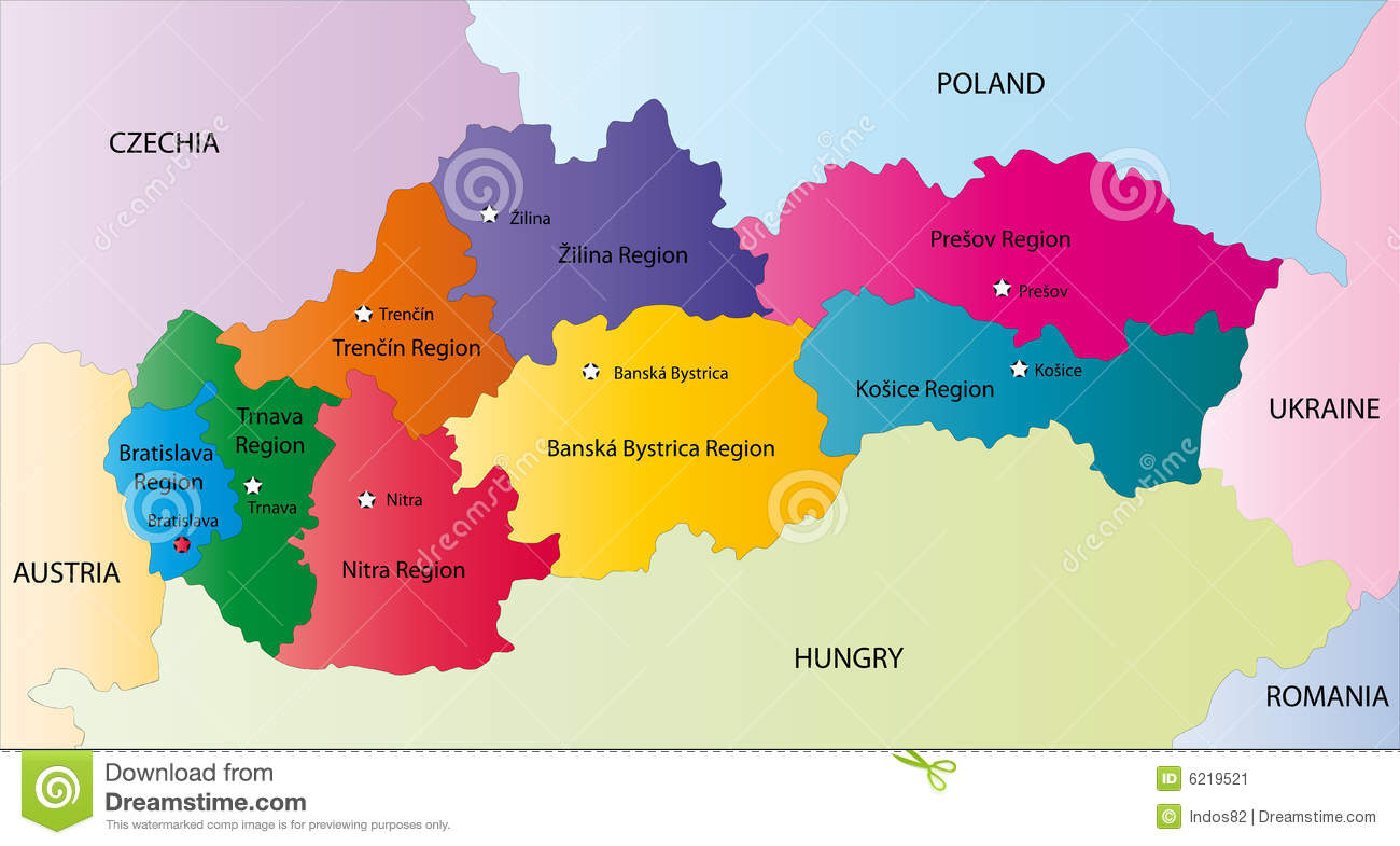Slovakia map stock vector Illustration of border economic 8988904