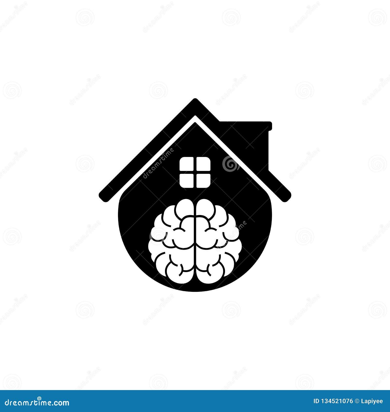 Vector Smart Home Idea Logo Design Template Stock Vector