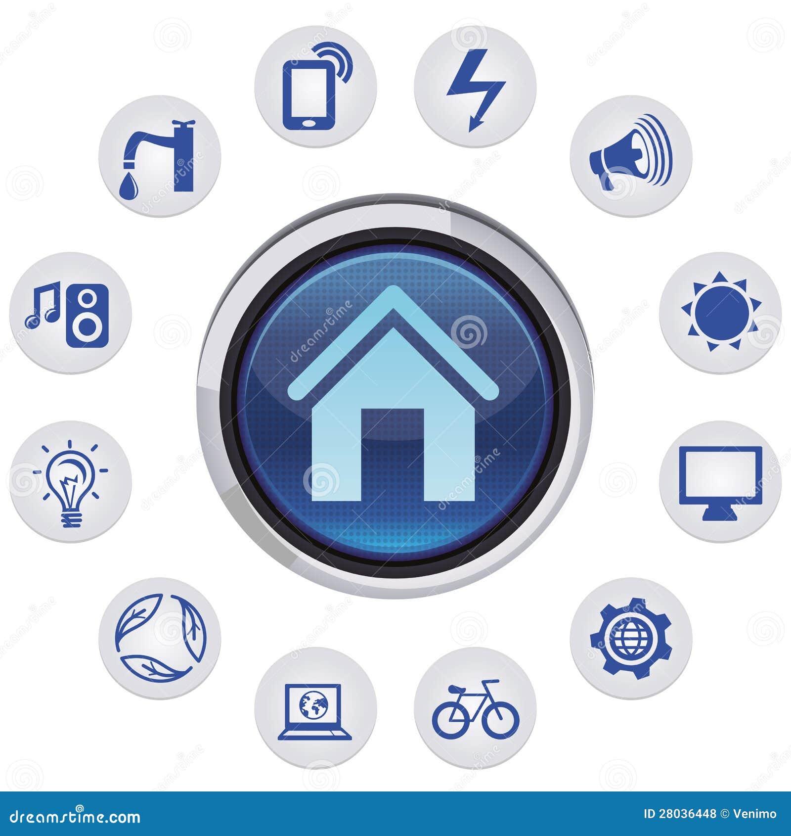 Home Automation Logo Design Vector Smart House Concept Royalty Free Stock Photos