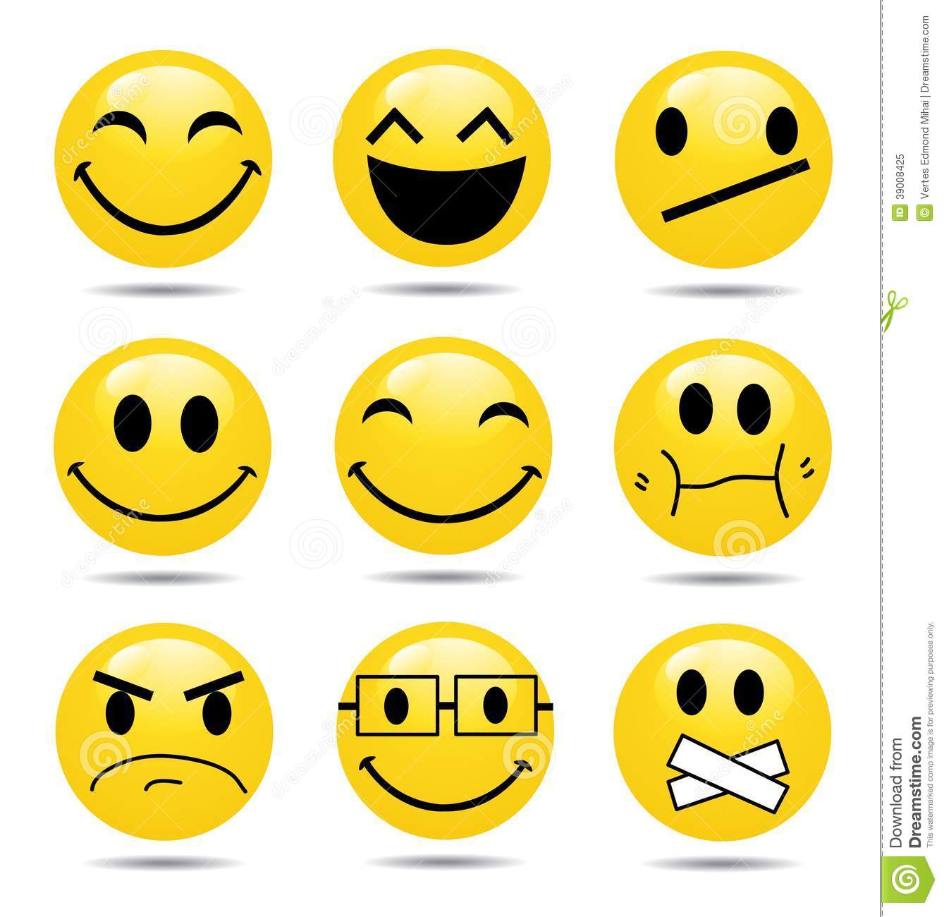 Vector Smile Icon Set Stock Vector - Image: 39008425