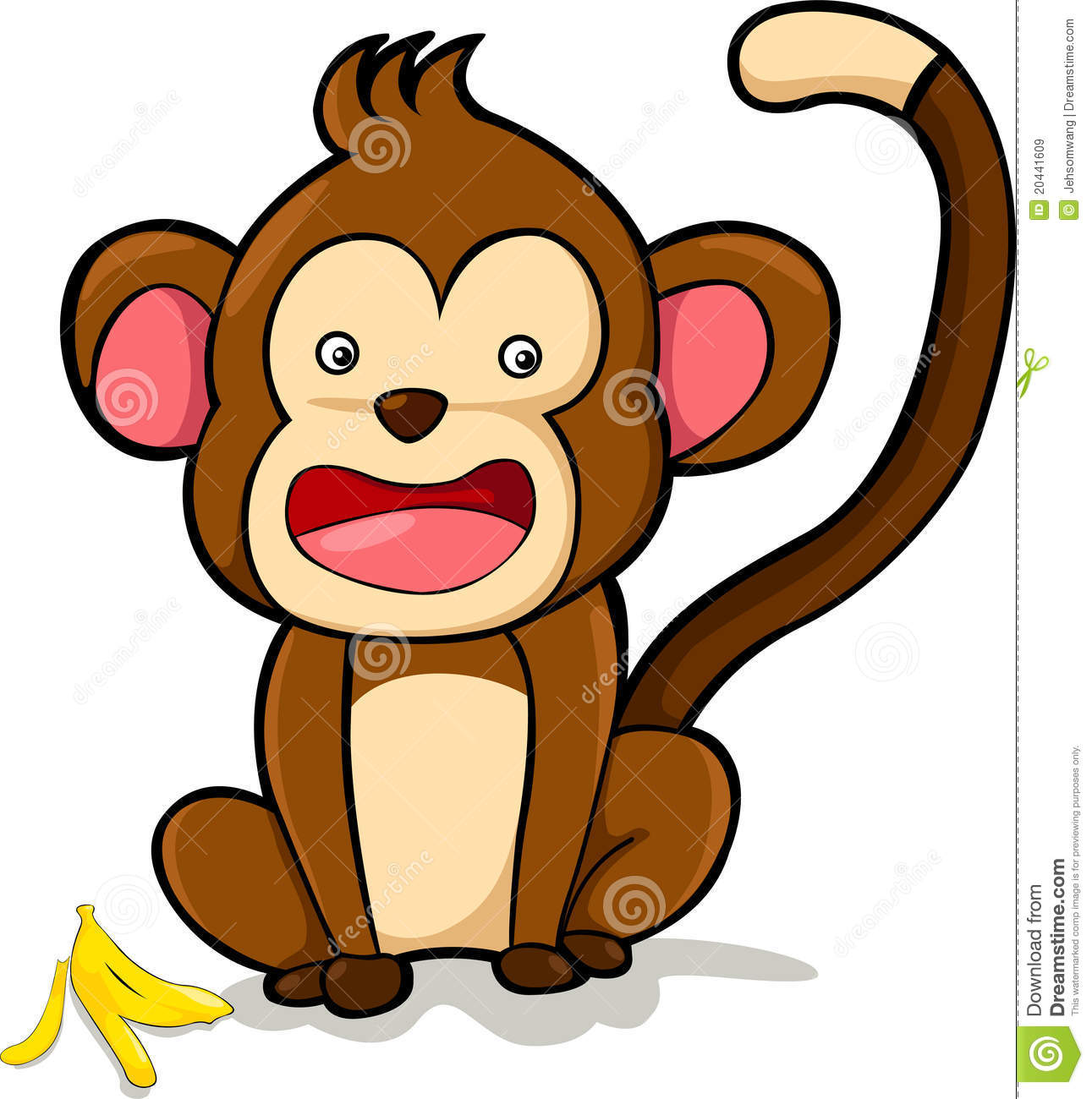 Vector Smile Monkey Illustration Royalty Free Stock Images - Image ...