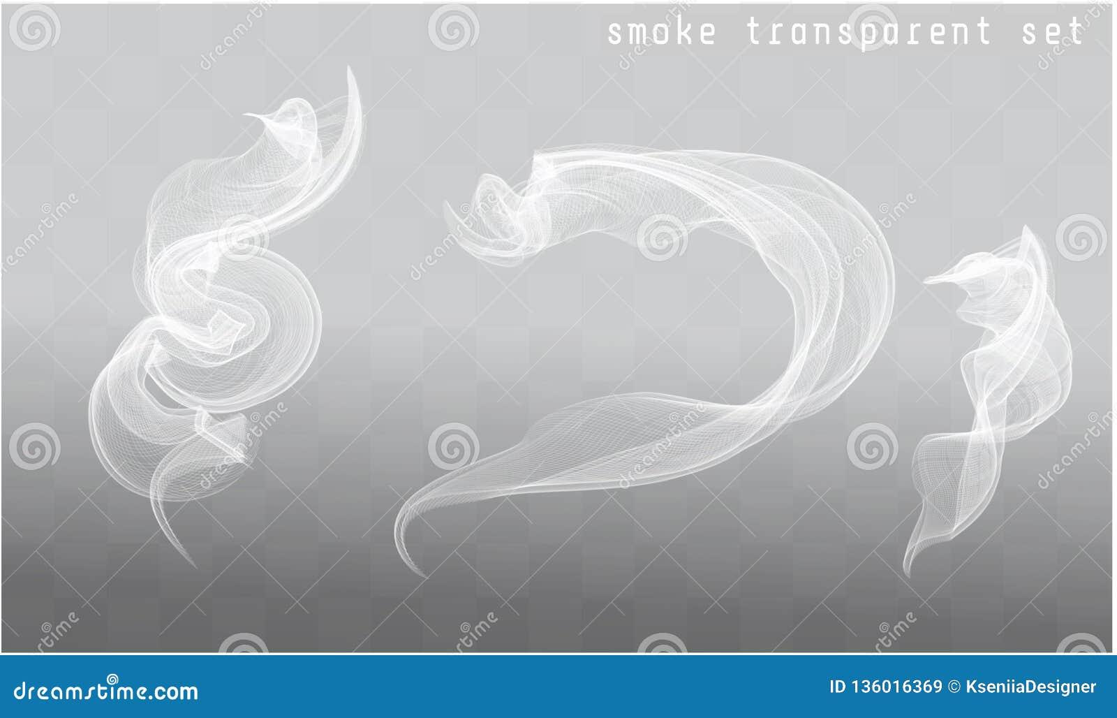 Vector Smoke Brush  Vector Isolated Image Of Smoke Stock