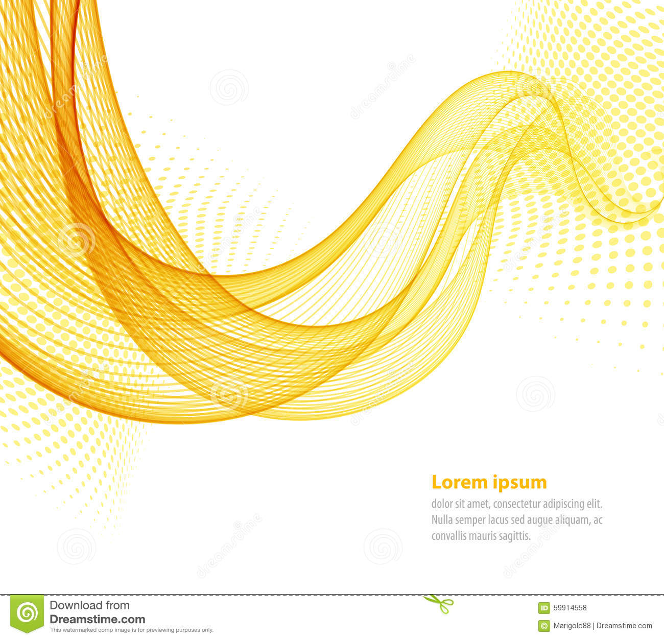 Vector Smooth Abstract Waves Stock Vector Image 59914558