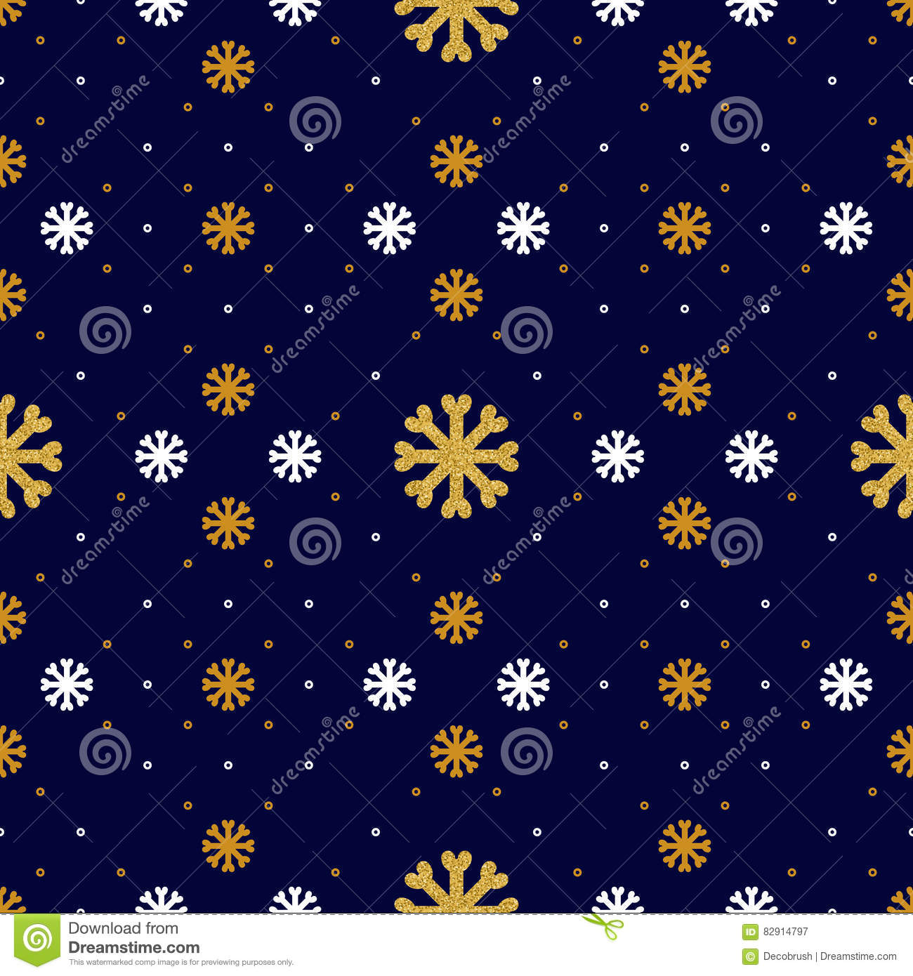 vector snowflake seamless pattern winter holiday background line