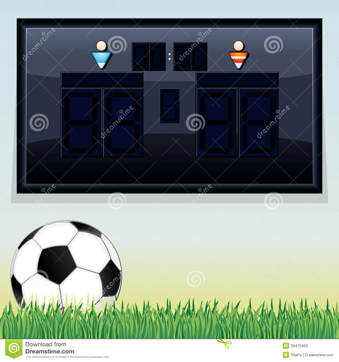 Vector Soccer Scoreboard Vector Template Photo Image – Scoreboard Template