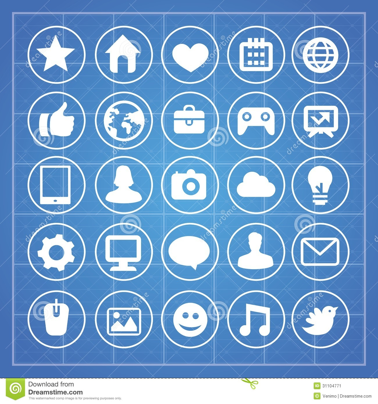 social signs technology symbols vector background information preview