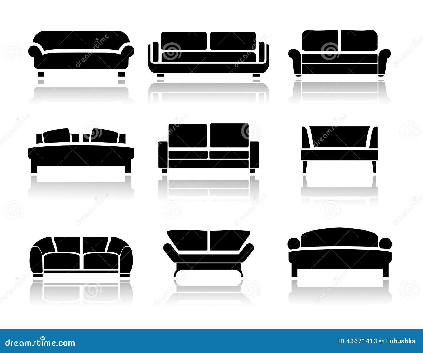 Vector Sofa Stock Image 43671413