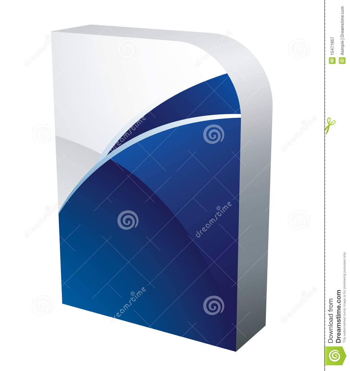 Vector software box royalty free stock photography image Vector image software