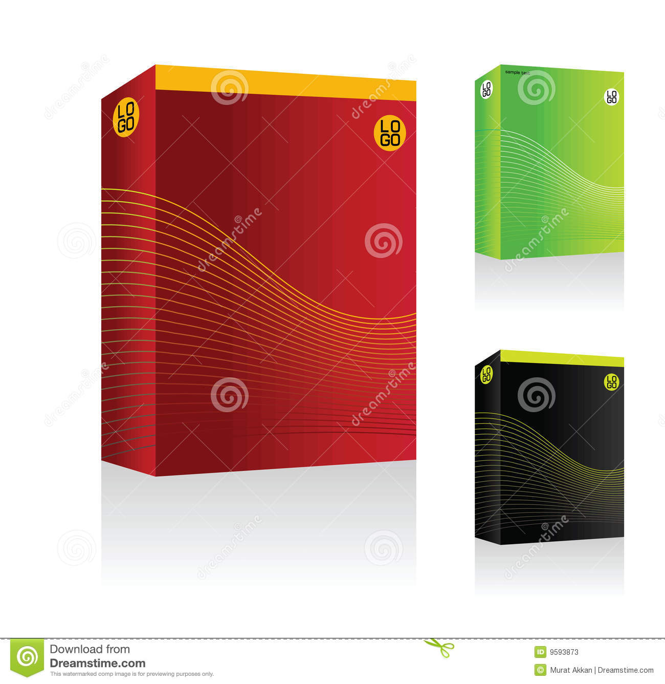 Vector software box stock photos image 9593873 Vector image software