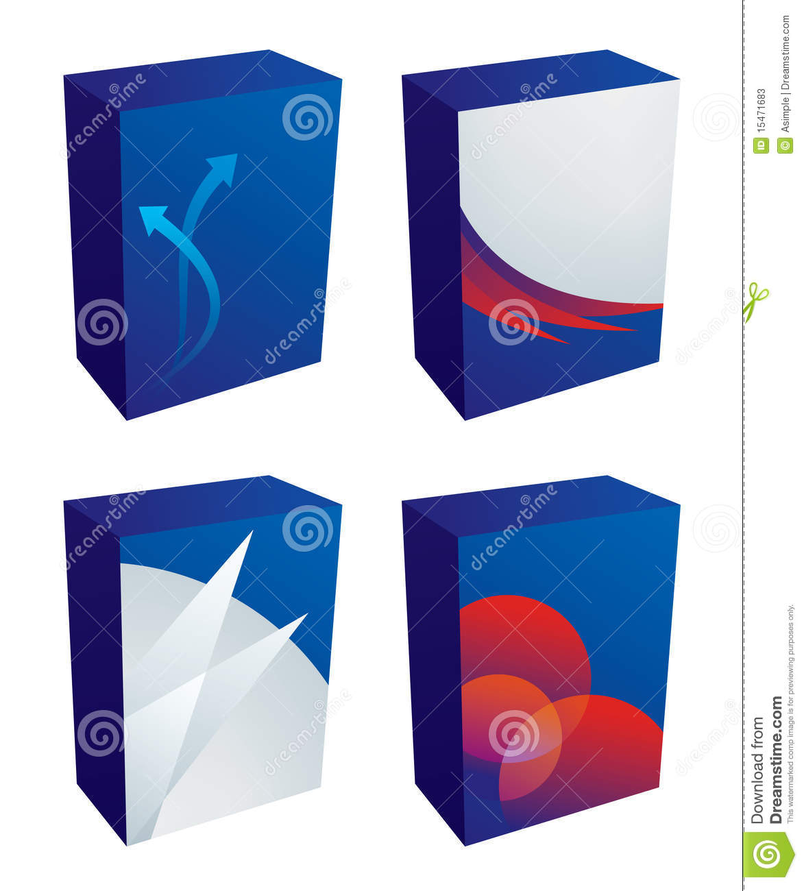 Vector software boxes stock photos image 15471683 Vector image software