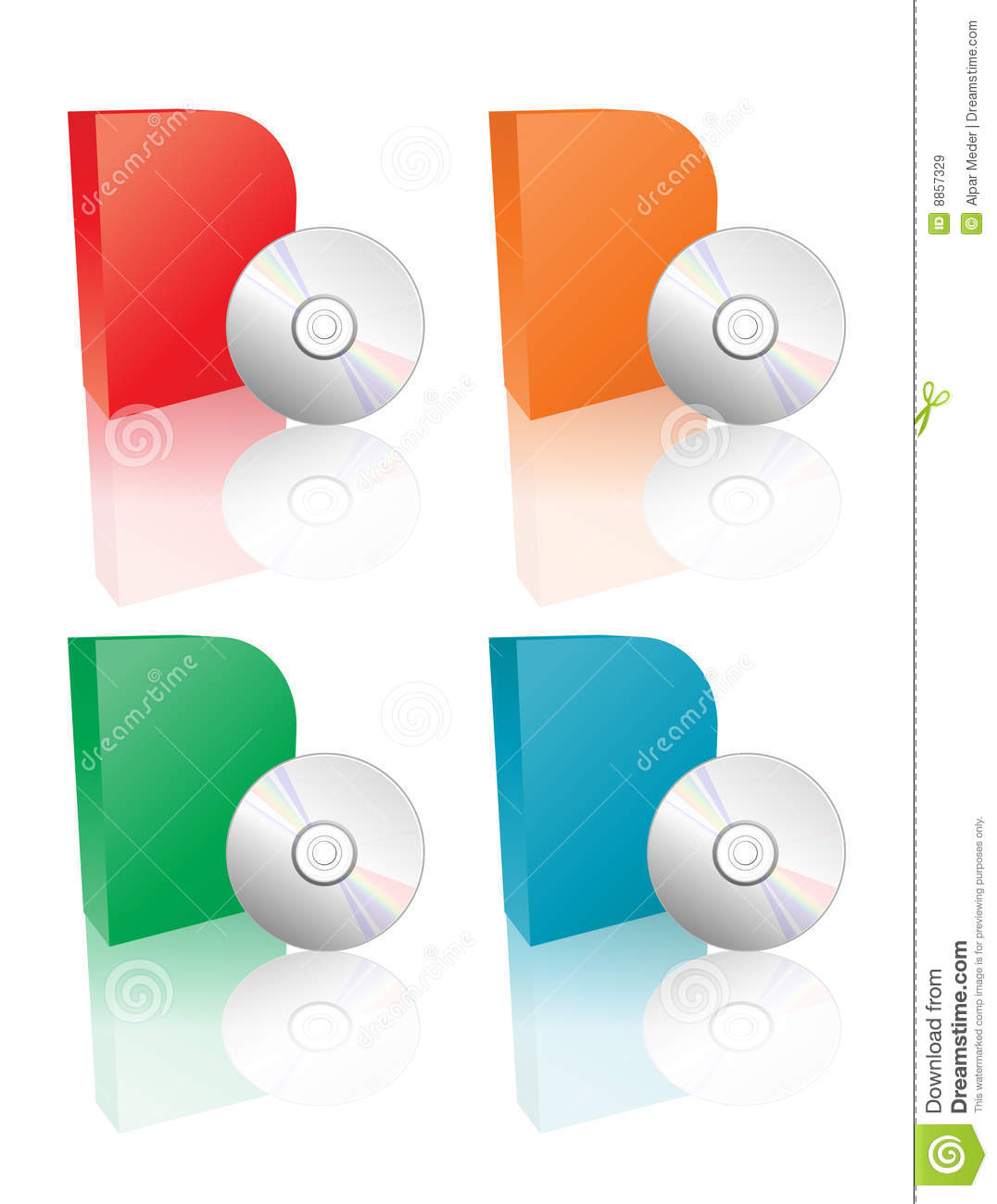 Vector Software Cd Pack Stock Vector Illustration Of